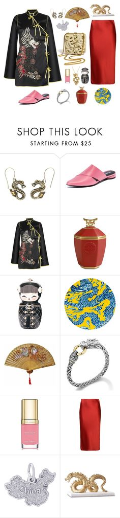 """China"" by valya-strelc ❤ liked on Polyvore featuring John Hardy, Opening Ceremony, Attico, L'Objet, Chanel, Gandía Blasco, Jane Lee McCracken, Dolce&Gabbana, T By Alexander Wang and Rembrandt Charms"