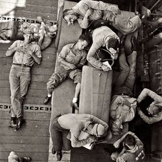 USS Hornet Crew relaxing after a raid  (US Navy Archive) #history #vintage