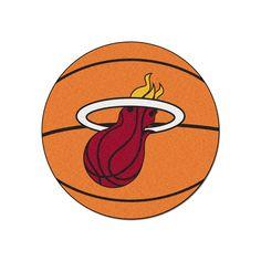 Fanmats Miami Heat Basketball Rug, Multicolor