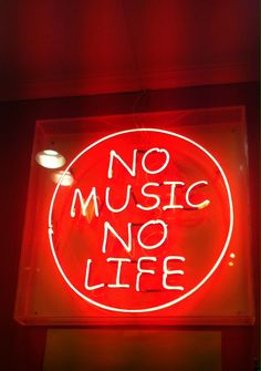 Image result for no music no life neon sign