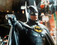 Scene of Michael Keaton as Batman in action - 1989.