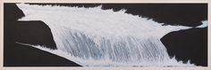 Carol Mickett and Robert Stackhouse Water over Rocks, 2015 Acrylic on paper mounted on canvas 20 x 60 inches
