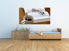 Going in my future bookstore :)   Amazon.com: Tasse Et Lecture - Peel and Stick Wall Decal by Wallmonkeys: Home & Kitchen