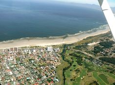 Strand's beach area - the Lourens River mouth and Strand Golf Club is also visible. - photo by Maria Wagener. Best Family Beaches, River Mouth, Beach Road, Table Mountain, Coastal Homes, Cape Town, Live, South Africa, Trip Advisor