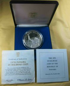 Mint Coins, Silver Coins, 925 Silver, Legal Tender, Rare Coins, The Republic, Coin Collecting, Panama, Stuff To Buy