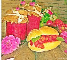 Gosia gotuje: Dżem truskawkowo-poziomkowy z kwiatami czarnego bz...