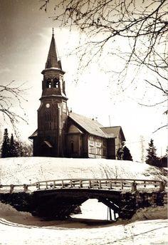 Kurkijoki Church, today on the Russian side of border after the war | Куркийоки Kurkijoki