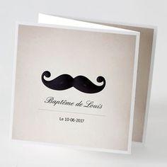 La Boutique Organizz' : Faire part Baptême Moustache