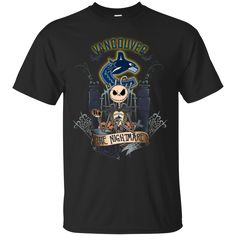 Halloween Vancouver Canucks T shirts The Nightmare Hoodies Sweatshirts