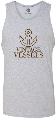 Vintage Vessels Anchor (Brown) Tank-Top T-Shirt