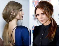 8 Best and Glamorous Hairstyles for Round Face low ponytail with smooth human hair extensions clip on