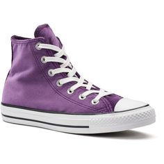 Women's Converse Chuck Taylor All Star Velvet High Top Sneakers (€32) ❤ liked on Polyvore featuring shoes, sneakers, converse, purple, purple shoes, laced up shoes, high top shoes, purple sneakers and converse trainers