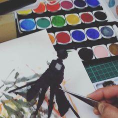 WIP  #workinprogress #wip #art #sketch #illustration #artwork #artist #handmade #design #watercolor #fanart #paper #mixedmedia #paperart #papercraft #papercutting #papercut #collageart #craft #paperartist #paperwork #handcut #instaart #creative #papercrafts #diy #anime #manga #otaku #japan