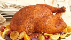 Get Savory Herb Rub Roasted Turkey Recipe from Food Network Roast Turkey Recipes, Chicken Recipes, Rub Recipes, Dinner Menu, Dinner Recipes, Party Recipes, Dinner Ideas, Turkey Seasoning, Pranks