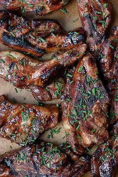 Korean Country Spare Ribs: These ribs are the answer to ho-hum grilled ribs. A savory Asian-inspired marinade gives plain ol' pork ribs a gigantic flavor boost using basic easy to find Asian ingredients. Rib Recipes, Grilling Recipes, Asian Recipes, Cooking Recipes, Smoker Recipes, Cooking Tips, Easy Steak Recipes, Bacon Recipes, Easy Chicken Recipes