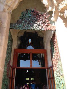 The entrance, Gaudi's Sagrada Familia, Barcelona, Spain