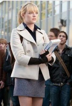 Emma Stone as Gwen Stacy, The Amazing Spider-Man Gwen Stacy, Andrew Garfield, Emma Stone Style, Schoolgirl Style, Amazing Spiderman, Men Looks, Star Fashion, Kids Fashion, Autumn Winter Fashion