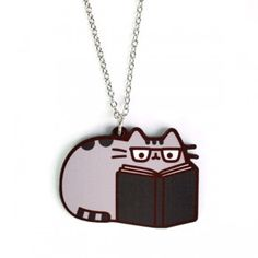 Reading Kitty Necklace