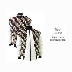 New! JA-0201 with Stamp Batik #jaketbatikmedogh http://medogh.com/baju-batik-pria/jaket-batik-pria/Jaket-Batik-Sport-Parang-Rusak-JA-0201