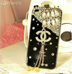 Handwork Luxury Diamonds Hard PC Case For iPhone 4S/4G