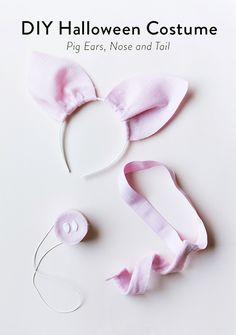DIY pig costume