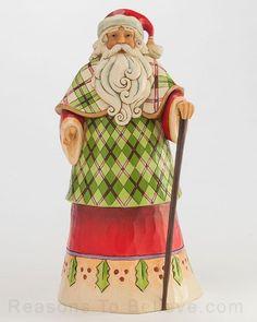 Santa in Plaid Robe - Highland Holidays