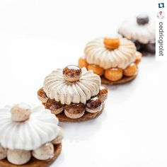 Those Fabulous, Decadent French Pastries - Useful Articles Small Desserts, Fancy Desserts, Köstliche Desserts, Plated Desserts, Delicious Desserts, Dessert Recipes, Patisserie Design, Patisserie Fine, Decoration Patisserie