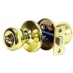 "Set 2 Vtg Ives Sliding Door Pulls Polished Bright Brass NOS 1 7//8/"" Bore Closet"
