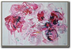 Abstract flower Oil Painting On Canvas Original by CelineZiangArt
