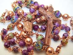 Etsy Rosary Guild Team: Robert's Heirloom Rosaries- Presents the Rosary Of St. Benedict- SOLID COPPER!