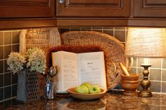 I love using lamps in the kitchen.  { the vintage wren }