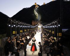 Fendi - F W 2007 - on an imitation of the Great Wall of China 92bfef8806403