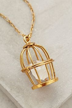 Birdcage Pendant Necklace - anthropologie.com #anthrofave