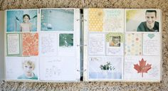 More journaling inserts where photos would normally be.  Love this idea #marcypenner.