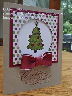 Stamping With Debbie.  Color Me Christmas stamp set from Stampin' Up! 2013 Holiday Catalog.