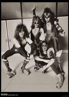 A great band portrait poster of KISS at the height of the powers in Amsterdam Ships fast. Check out the rest of our awesome selection of KISS posters! Need Poster Mounts. Paul Stanley, Gene Simmons, Banda Kiss, Vinnie Vincent, Eric Carr, Kiss Pictures, Kiss Images, Peter Criss, Vintage Kiss