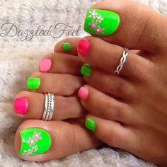 Best Toes - 42 Best Polished Toes for 2018 - Fav Nail Art