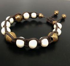 Men's White Antique Bronze Bracelet Turchin Jewelry