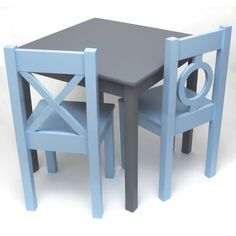 Wooden Table & Chairs Set | Wooden tables, Playrooms and Kids furniture