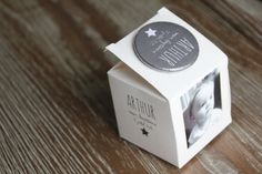 boîte a dragées personnalisée avec photo + badge aimanté