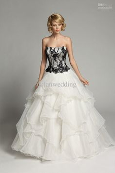 Black and White Wedding Dresses Corset - Wedding - Pinterest ...