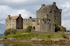 Elizabeth the Golden Age location: the exterior of 'Fotheringay Castle': Eilean Donan Castle, west coast of Scotland
