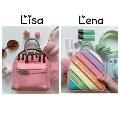 So cuteeee uWu Lisa And Lena Clothing, Lisa Or Lena, Fashion Backpack, Bff, Queen, Unicorn, Selena, Tik Tok, Flamingo