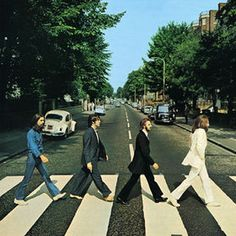 Abbey Road...I've walked across this crosswalk. Check!