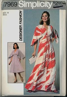 A Simplicity 7969…a Designer Fashion Misses' Dress in Two Lengths Sewing Pattern in Size 14    The pattern is cut and all the pieces are