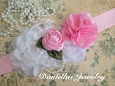 Vintage inspired Maternity sash/Belly Bouquet by Daniellasjewels, $20.95