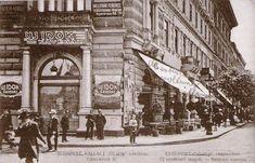 Új Idők Kávéház, Váci körút (ma Bajcsy-Zsilinszky) és Nagymező utca sarka, 1900 körül