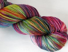 Impromptu Dance Party - Assockilate - SW Merino/Nylon/ Fingering Weight - Variegated - 463 yds.