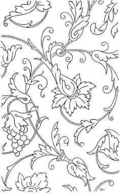 Free Printable Adult Coloring Pages - Flower Coloring Pages Garden Coloring Pages, Flower Coloring Pages, Coloring Book Pages, Printable Coloring Pages, Coloring Sheets, Free Coloring, Line Art, Embroidery Patterns, Stencil