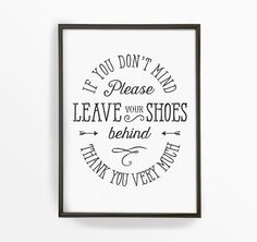 Take Your Shoes Off 8x10 printable art  Please by TheCrownPrints